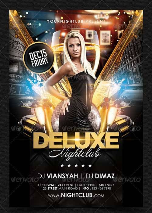 Great Top 35 Party and Club PSD Flyer Templates