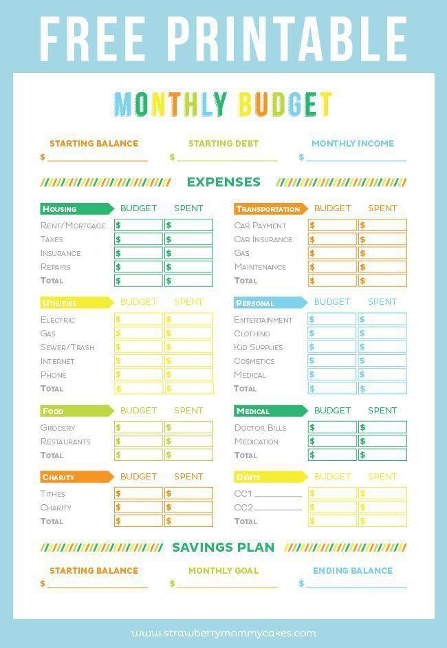 Best 10+ Monthly budget sheet ideas on Pinterest | Budget planner ...