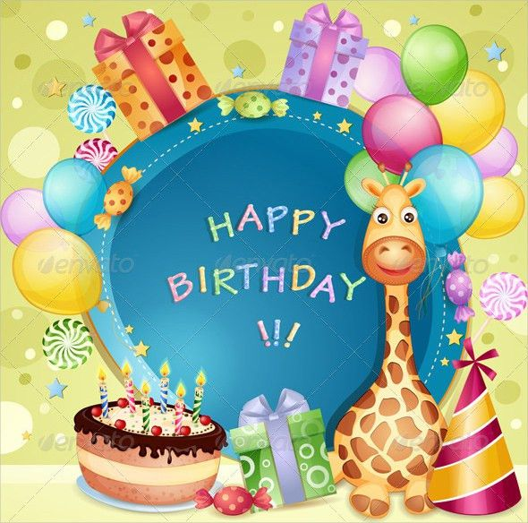 Happy Birthday Card Templates Free Happy Birthday Editable Card – Vector Birthday Card