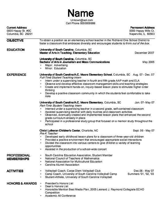 Pre K Teacher Resume, preschool teacher resume guide, 15 best art ...