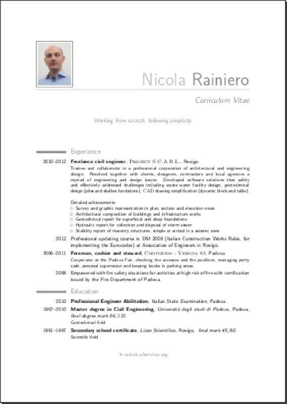 Latex Resume Template. Compact Academic Cv/Resume Template 14 Best ...
