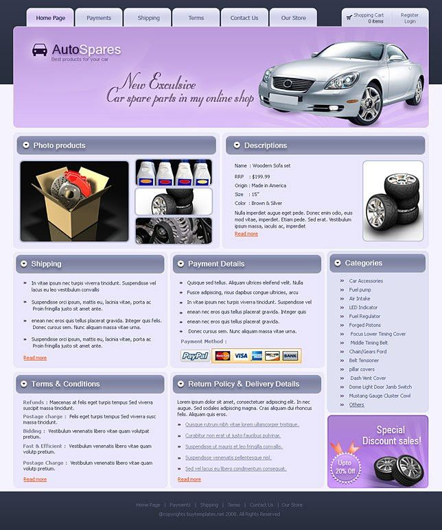 Ebay templates html download for automobile sites