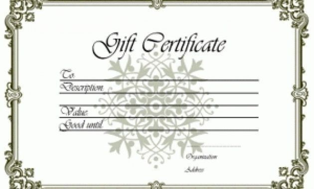 Gift Certificate Templates – Free Printable Gift Certificates For ...