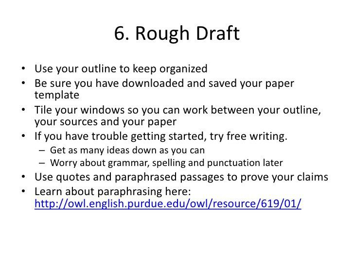 Junior research paper outline example