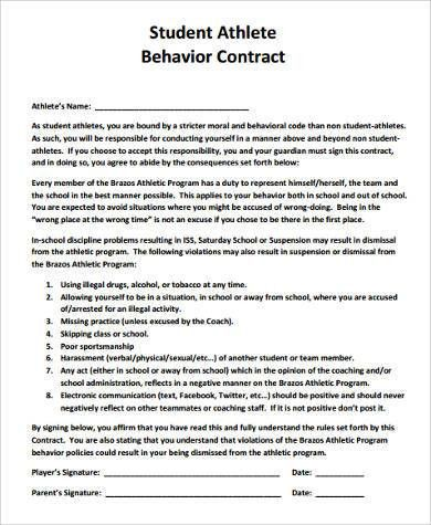 Professional Athlete Contract Template  BesikEightyCo