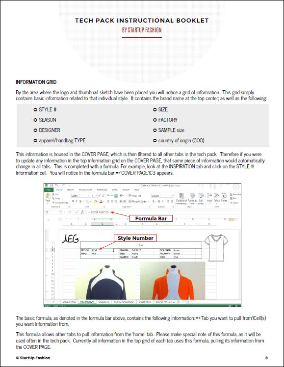 Tech Pack Template | StartUp FASHION