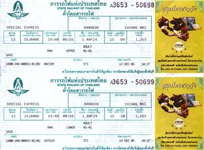 Train Tickets Sample - Thailand train travel guide by SiamHotel ...