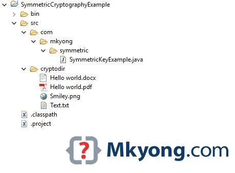 Java – Symmetric-Key Cryptography example