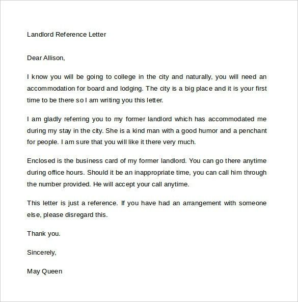 Landlord Reference Letter | | jvwithmenow.com