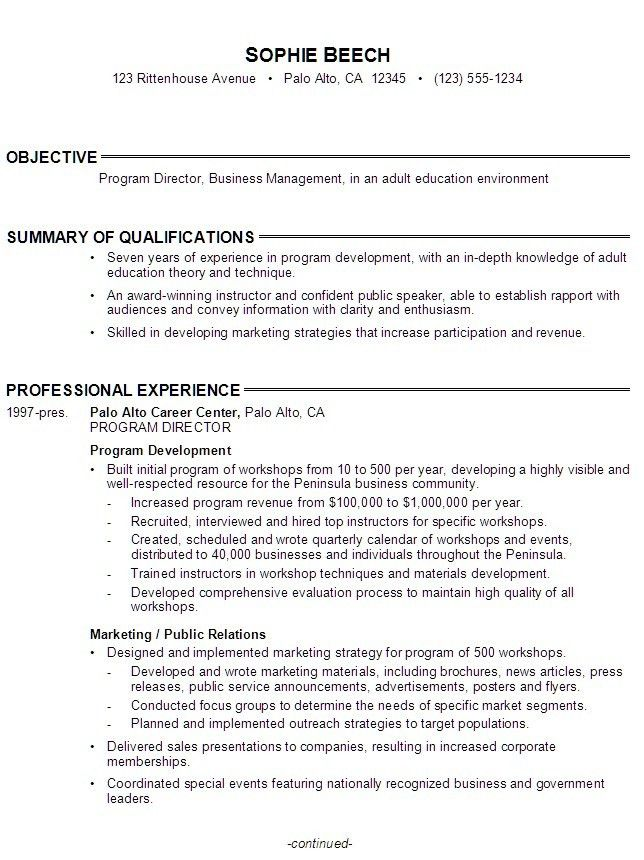 Job Objective Statement. Sample Job Objectives For Administrative ...