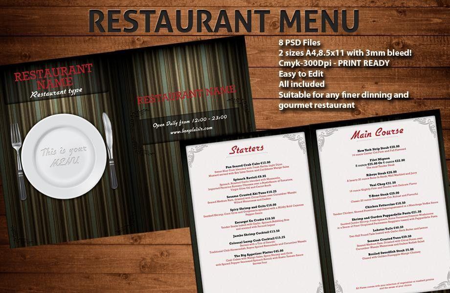 Restaurant menu templates ‹ PsdBucket.com