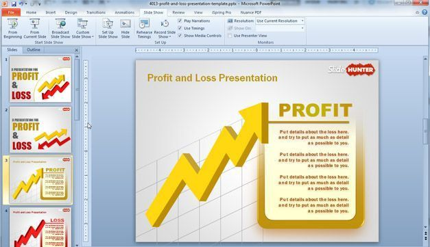 Free Profit & Loss PowerPoint Template - Free PowerPoint Templates ...