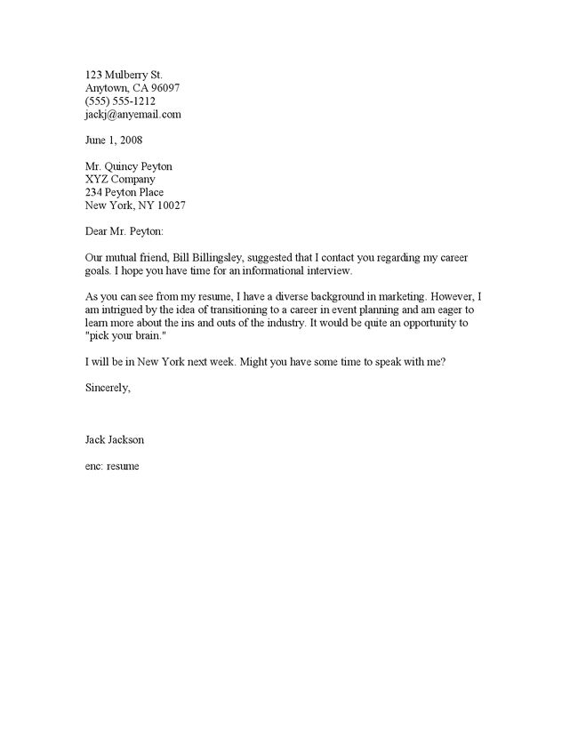 Cover Letter For Interview - My Document Blog