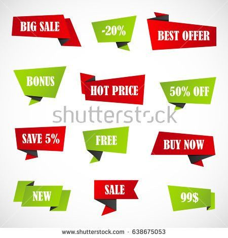 Vector Stickers Price Tag Banner Label Stock Vector 624058220 ...