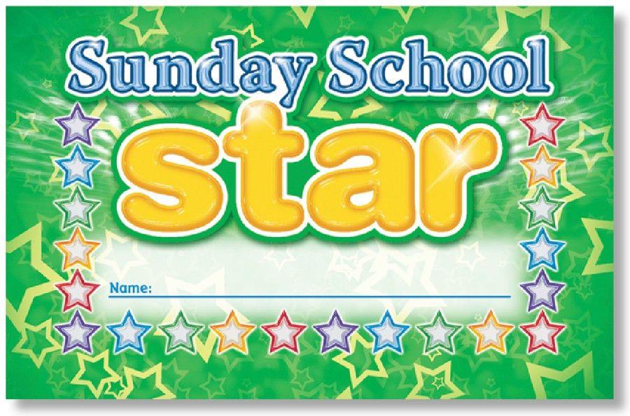 North Star Teacher Resources - Sunday School Star Punch Cards