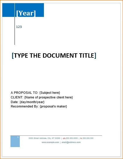 7+ Proposal Template Word | Timeline Template