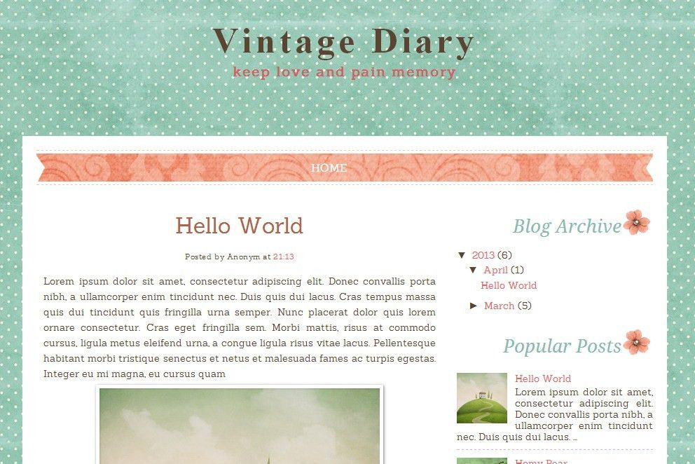 Free Vintage Blogger Templates | Template Idea