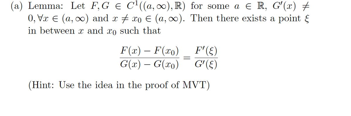 real analysis - Proof of Cauchy's Mean Value Theorem ...