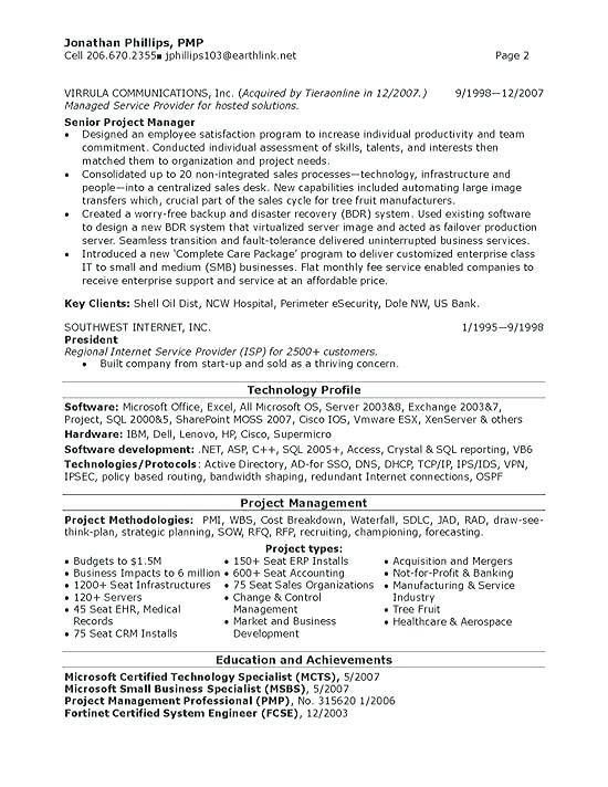 Project Manager Resume Template Doc Construction Project Manager ...