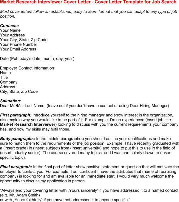 Cover Letter Template for Interview Template of Interview Cover ...