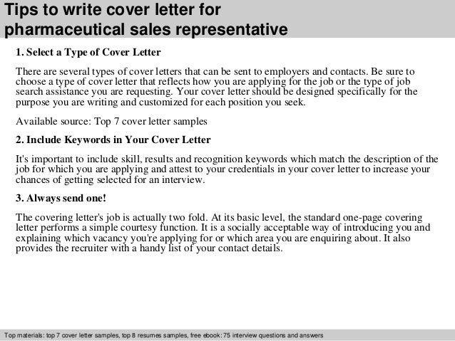 Pharmaceutical sales representative cover letter