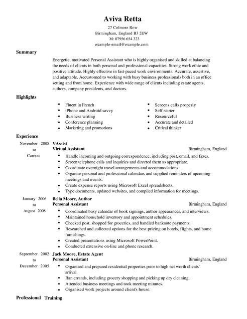 ResumeDetailed Resume Example. Resume Examples Awesome 10 Examples ...