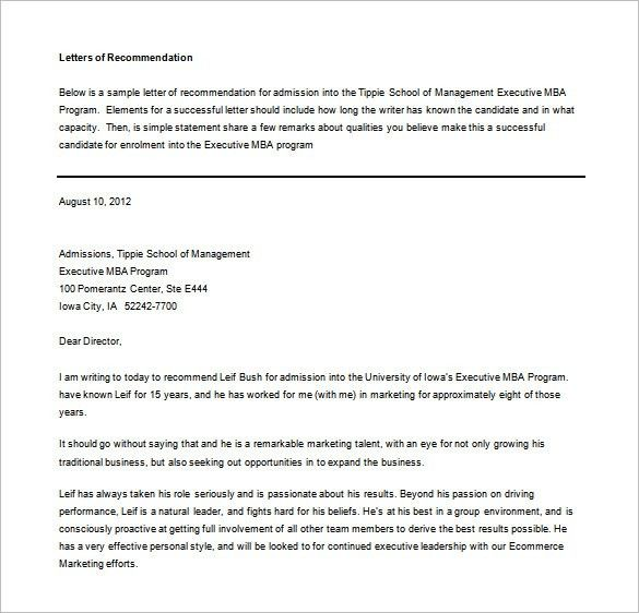 Letters of Recommendation – 28+ Free Word, Excel, PDF Format ...