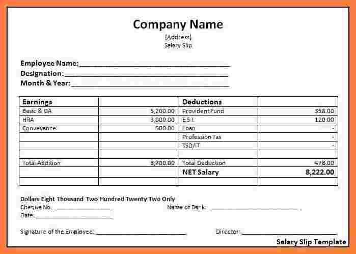 Payslips Templates. pay stub template free word pdf excel format ...