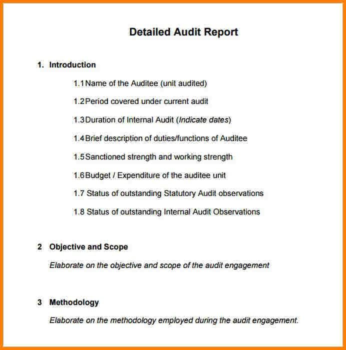 Audit Template Sample [Template.billybullock.us ]