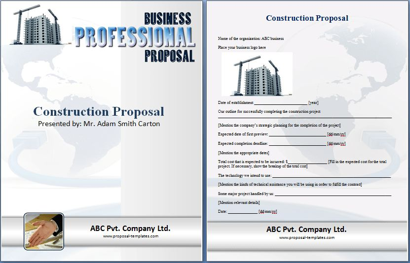 Construction Proposal Template Free | Proposal Templates