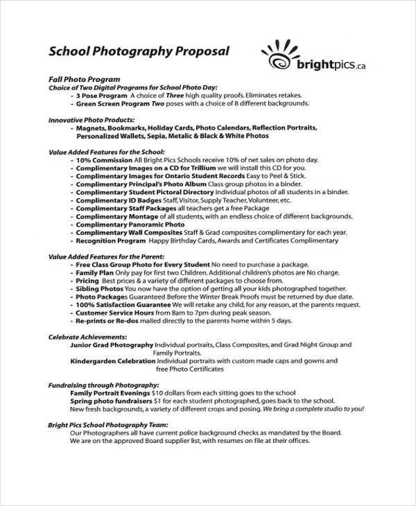 8+ Photography Business Proposal Templates - Free Sample, Example ...
