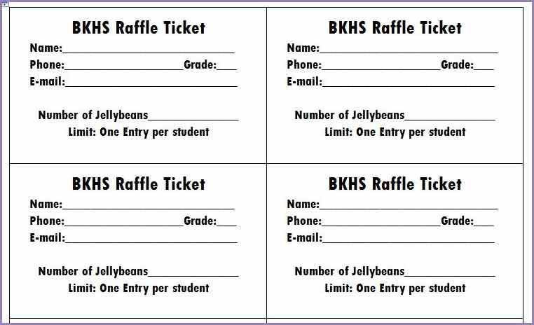 FREE PRINTABLE RAFFLE TICKETS | Samplenotary.cam