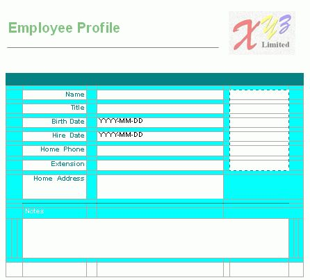 Free Word Report Template - Employee Profile