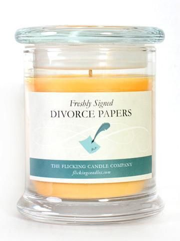 Freshly signed Divorce Papers – Flick Candles