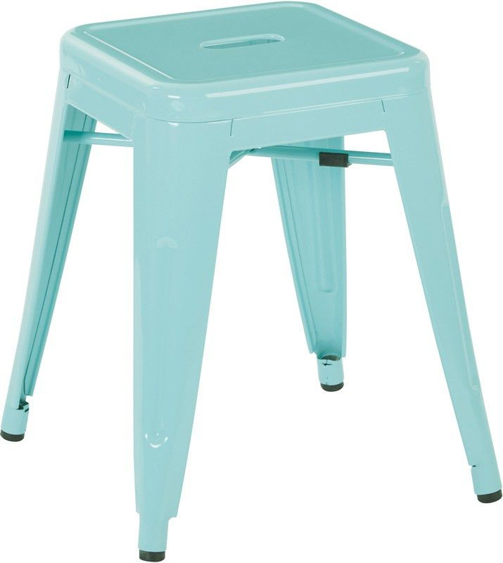 Designs Patterson 18'' Metal Backless Stool - Set of 2 - Mint ...