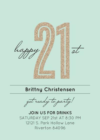 The 25+ best 21st birthday invitations ideas on Pinterest | 21st ...