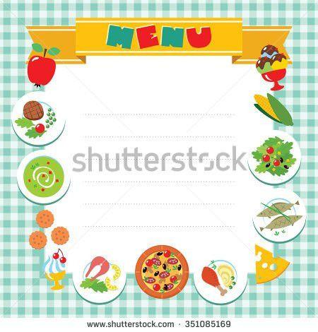 Kids Menu Template Stock Vector 180156209 - Shutterstock