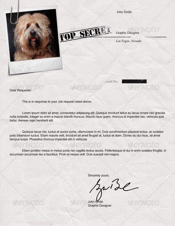 Top Secret Resume CV by Dengio | GraphicRiver
