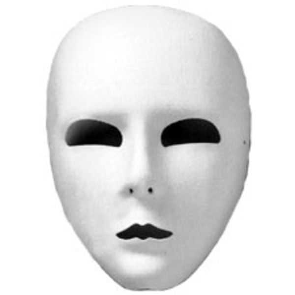 Full Face Mask White Ud   Free Images at Clker.com - vector clip ...