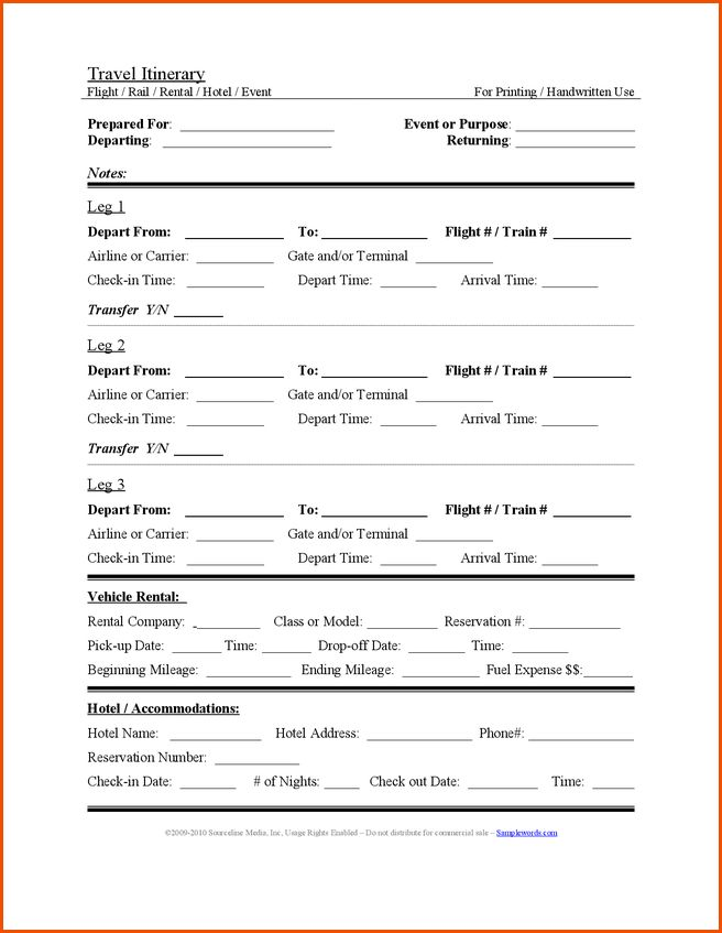 7+ travel itinerary template wordMemo Templates Word | Memo ...