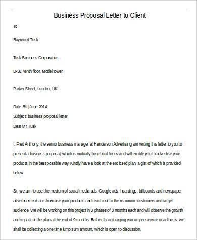 Formal Proposal Letter. Sponsorship Letter Template 10 40+ ...