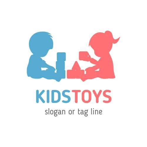 Kids Toys Logo Template - Kids Play Logo