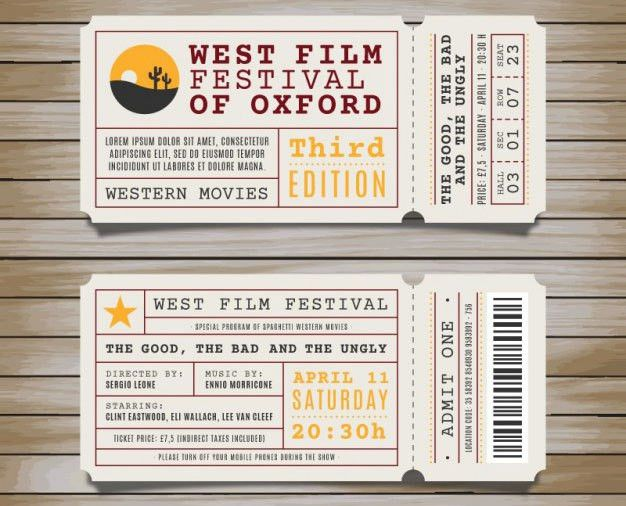 Event Ticket Template Free Download Concert Ticket Template – Free Event Ticket Template