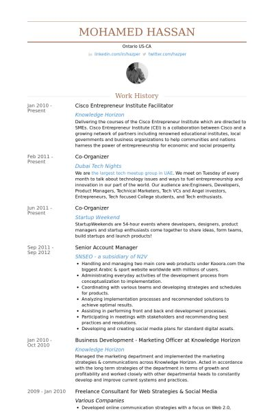 Facilitator Resume samples - VisualCV resume samples database