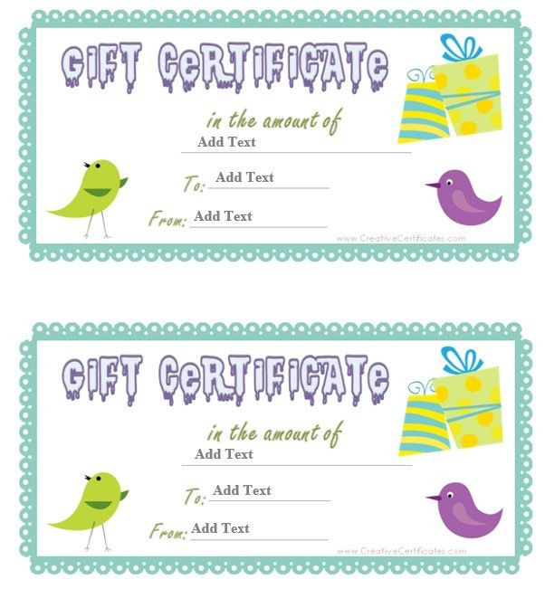 9 Free Sample Birthday Voucher Templates – Printable Samples