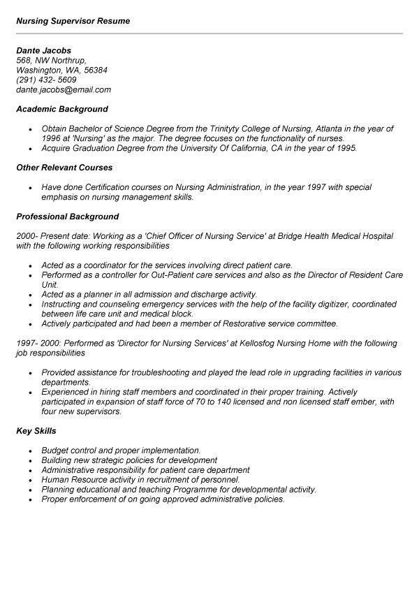 nursing home rn resumes