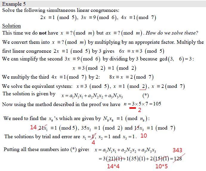 elementary number theory - Error in this Chinese Remainder Theorem ...