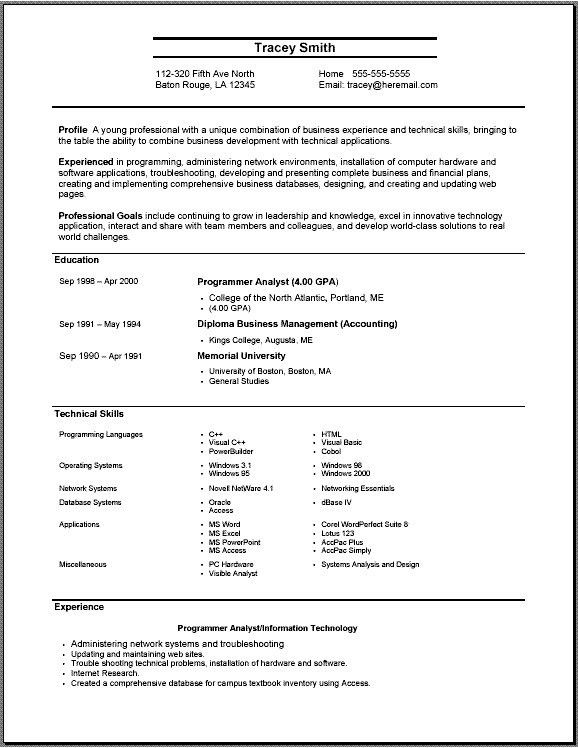 basic job resume examples format download pdf professional. 93 ...