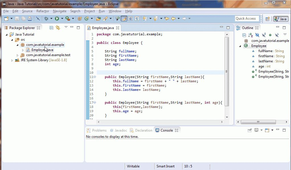 Java Tutorial 12 : Classes, Method, Constructor, Object