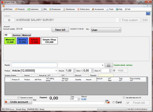 Simple Shop Universal POS & A4 invoice software Accounting
